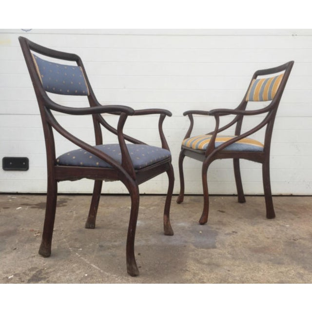 Art Nouveau Style Vintage Chairs - A Pair - Image 2 of 6