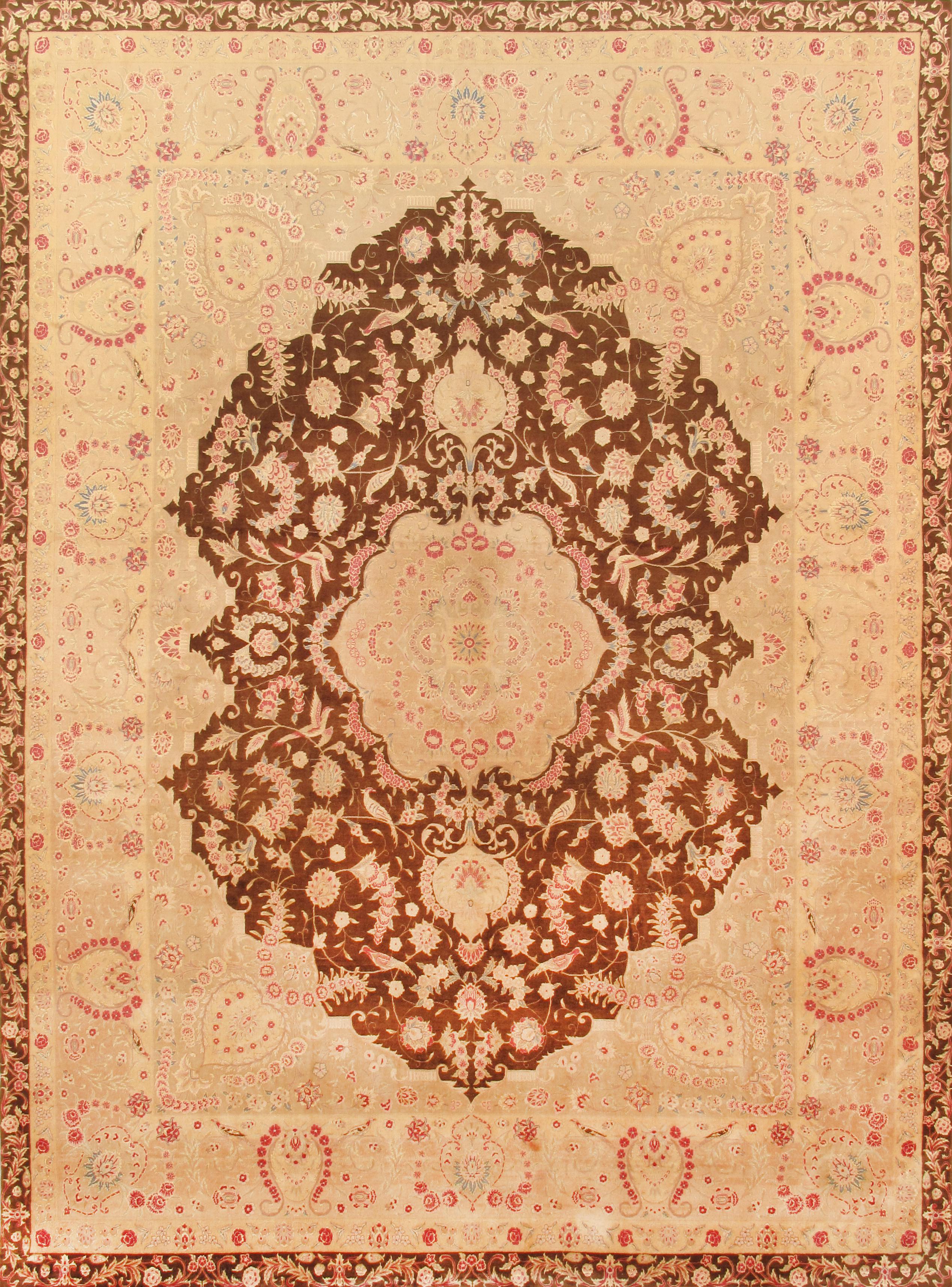 Traditional Pasargad Tabriz Silk Amp Wool Rug 8 7 Quot X 11
