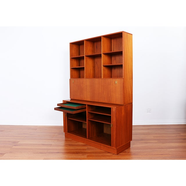 Danish Teak Secretary Tambour Desk by Peter Lovig - Image 5 of 5