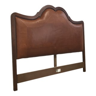 Baker Queen Saddle Leather Headboard