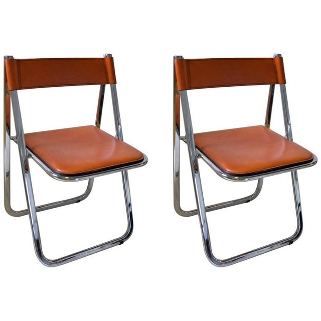Tamara Folding Chairs by Arrben - A Pair - Image 2 of 7