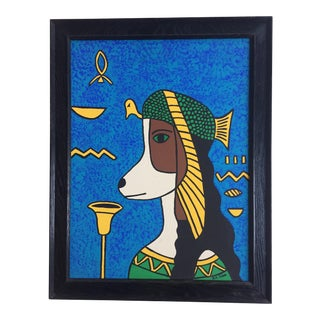 Cleopatra Hound Original Painting by B.D.Floyd