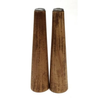 MCM Tapered Wood Salt and Pepper Shakers