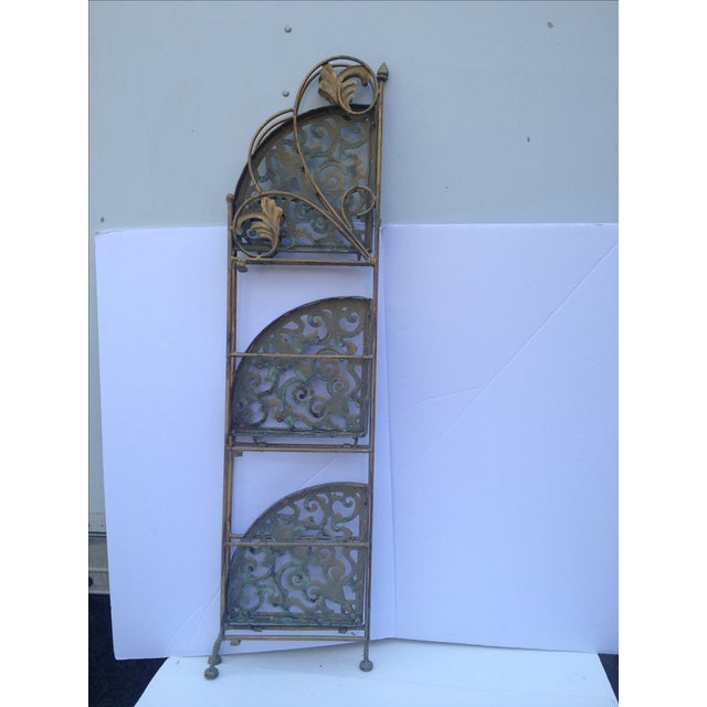 Folding Brass Corner Table Chairish