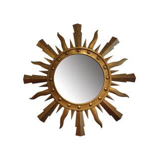 Italian Gilt Iron Sunburst Mirror