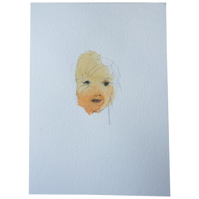 Image of Watercolor Face 012