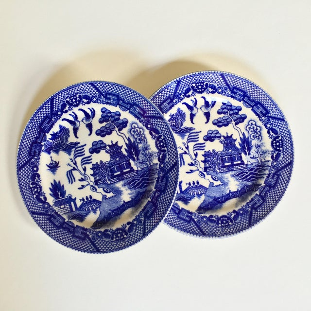 "Antique ""Blue Willow"" Pattern Plates - A Pair - Image 5 of 6"