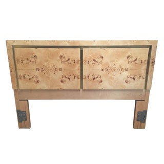 French Burl Wood Full-Size Headboard
