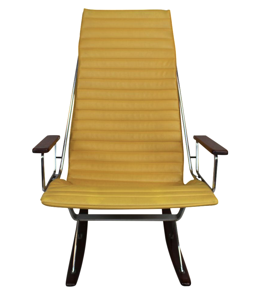 Gerald McCabe For Brown Saltman Yellow Rocker