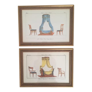 Chelsea House French Framed Lithographs - A Pair
