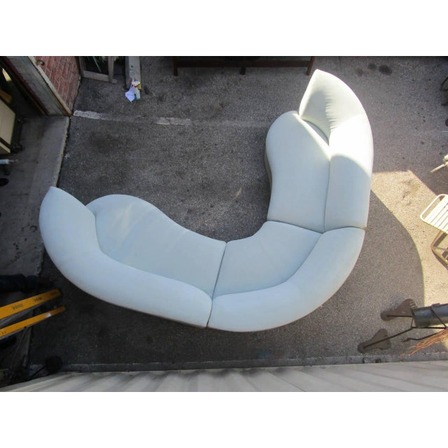 Image of Outstanding Huge Curved Sofa circa 1980s