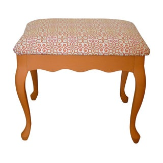 Vintage Upholstered Stool or Ottoman