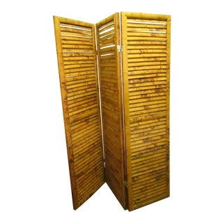 3 Panel Split Bamboo Folding Room Divider
