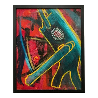 Vito Corriero Framed Original Robot Abstract Painting