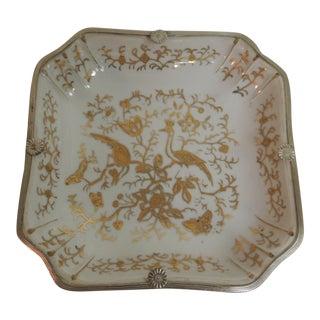 Vintage Porcelain White & Gold Decorative Dish