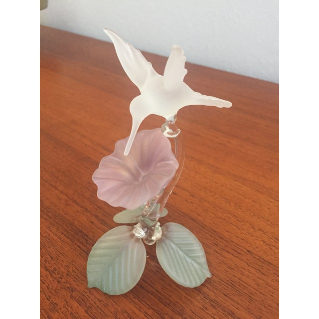 Hummingbird Blown Glass Figurine - Image 2 of 8