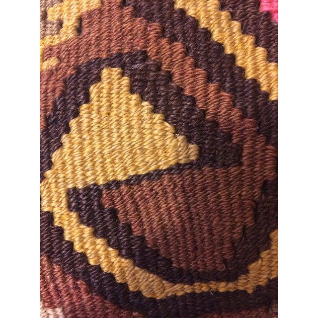 Antique Turkish Kilim Pillows - Pair - Image 8 of 8