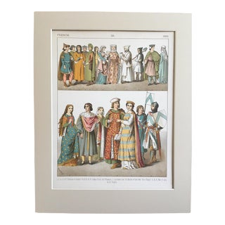 "19th Century Costume Print ""French 1200"""
