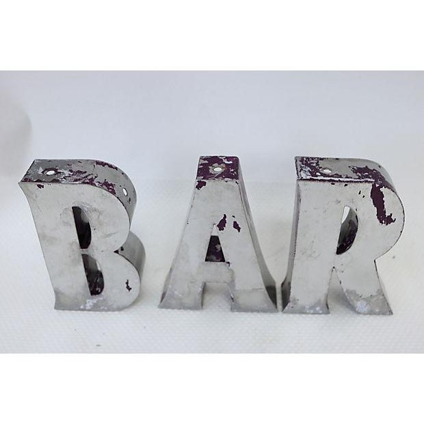 "Vintage English ""Bar"" Marquee Letters - Image 3 of 4"