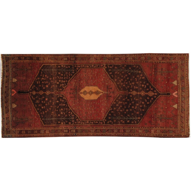 "Apadana - Red Persian Runner Rug - 4'8"" x 10'8"" - Image 1 of 3"