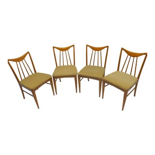 Mid-Century Danish Walnut Dining Chairs by Keller Furniture - S/4