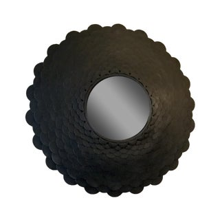 Round Bronze Scale Mirror