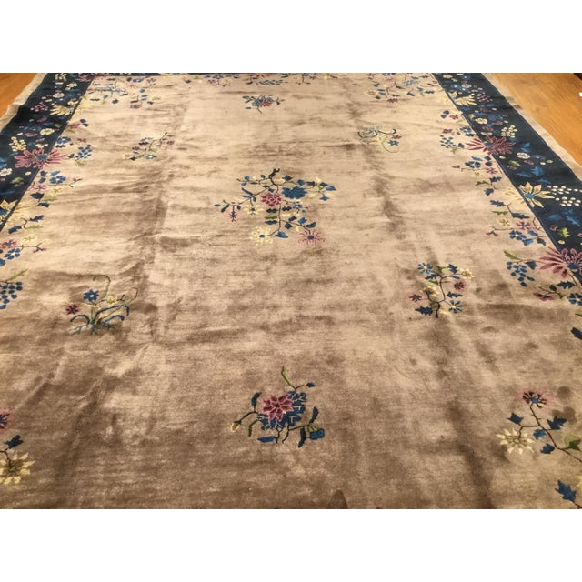Antique Chinese Art Deco Rug - 10′2″ × 13′5″ - Image 3 of 6