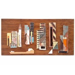 Image of Harris Strong Vintage Tile on Walnut Cityscape Art