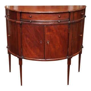 Early 19c. Neoclassical Demilune Cabinet or Console