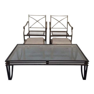 Antique Patinated Metal Patio Set