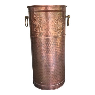 Honeycomb Hand Hammered Copper Umbrella Stand