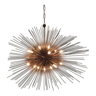 Kelly Wearstler Strada Oval Aged Iron Pendant Light