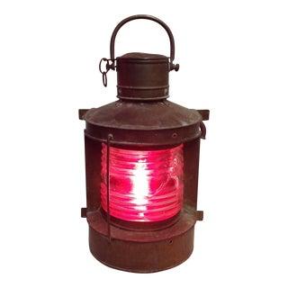 Vintage Rustic Glass Ship Lantern