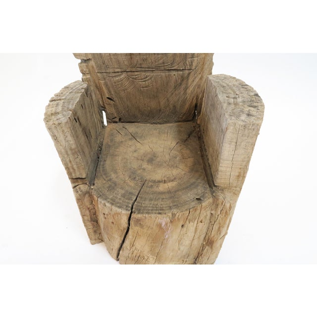 Childs Wood Stump Chair - Image 6 of 6