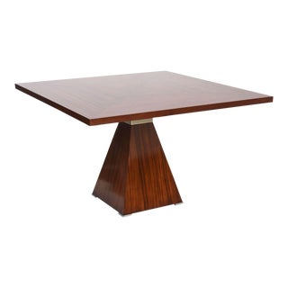 Italian Modern Rosewood and Stainless Breakfast/Center Table, Vittorio Introini