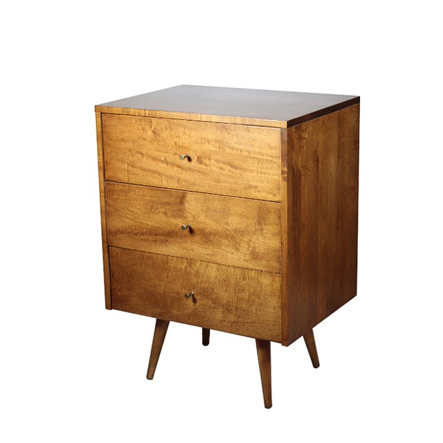 Image of Paul McCobb 3 Drawer Nightstands - A Pair