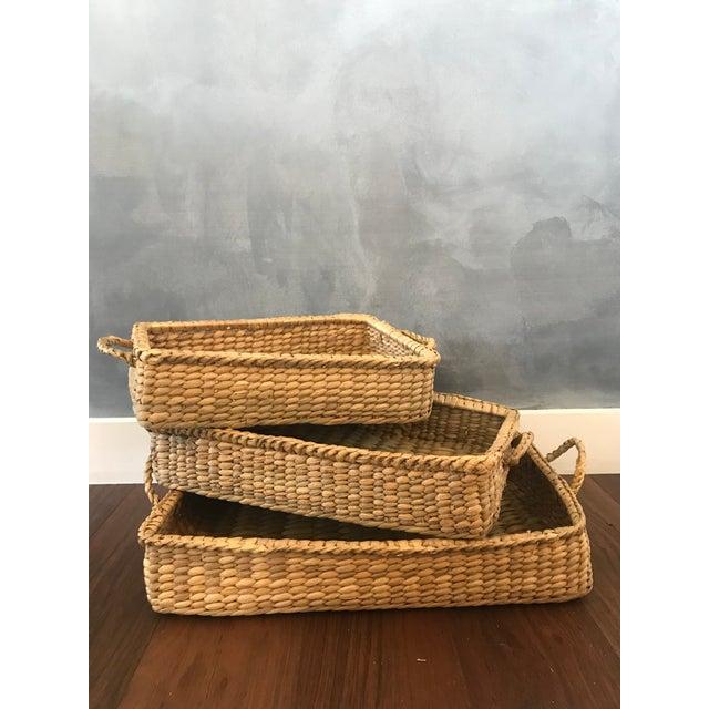 Wicker Basket Trays - Set of 3 - Image 7 of 7
