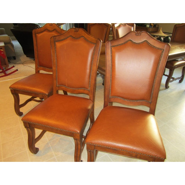 Stanley Leather Dining Chairs - Set of 6 - Image 6 of 11