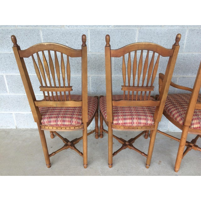 Ethan Allen Dining Room Sets For Sale: Ethan Allen Maple Dining Chairs - Set Of 6