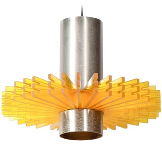 Orange Pendant Lamp by Claus Bolby