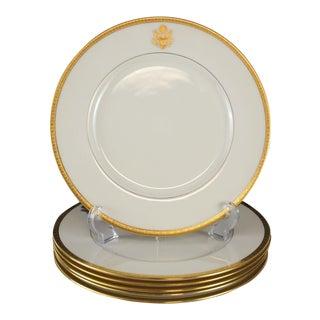 """Set of 6 Lenox Porcelain Presidential Seal Dinner Plates """"E Pluribus Unum"""", Circa 1940"""