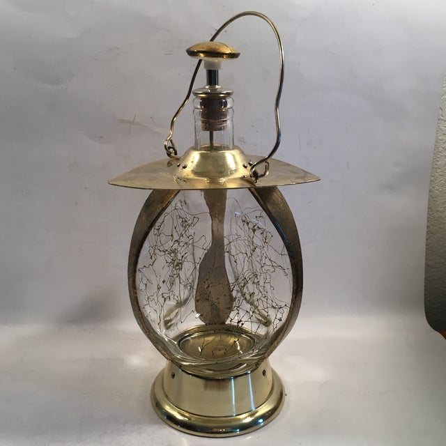 """Image of Lantern Decanter Music Box Plays """"How Dry I Am"""""""