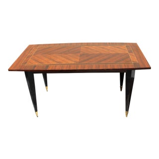 Stunning French Art Deco Macassar ''ZigZag'' Dining Table or Desks Circa 1940s