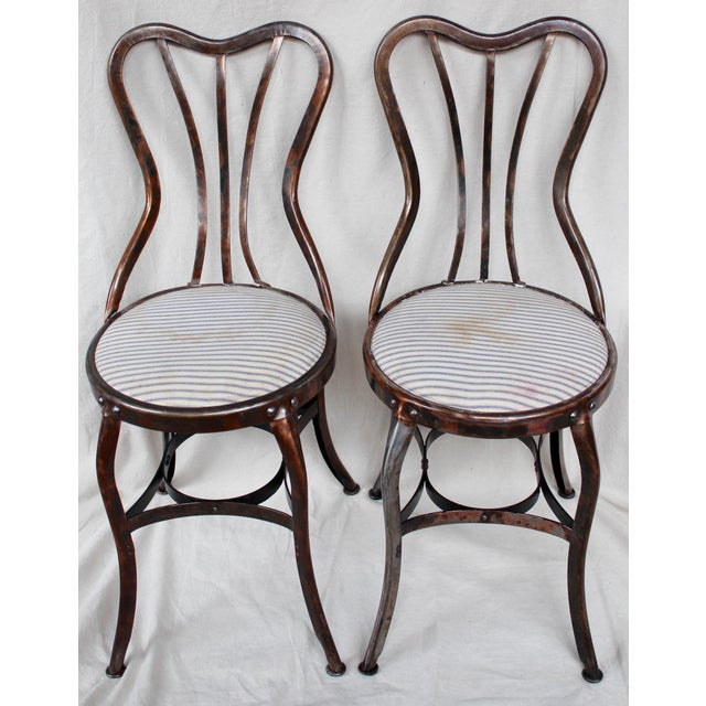 Vintage Toledo Industrial Chairs - A Pair - Image 2 of 8
