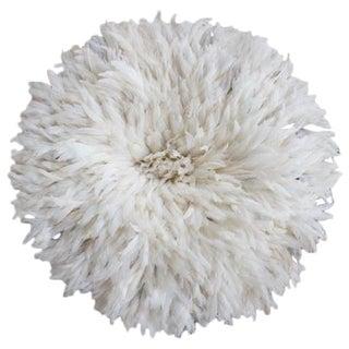 "30"" Cream African Feather Juju Hat"