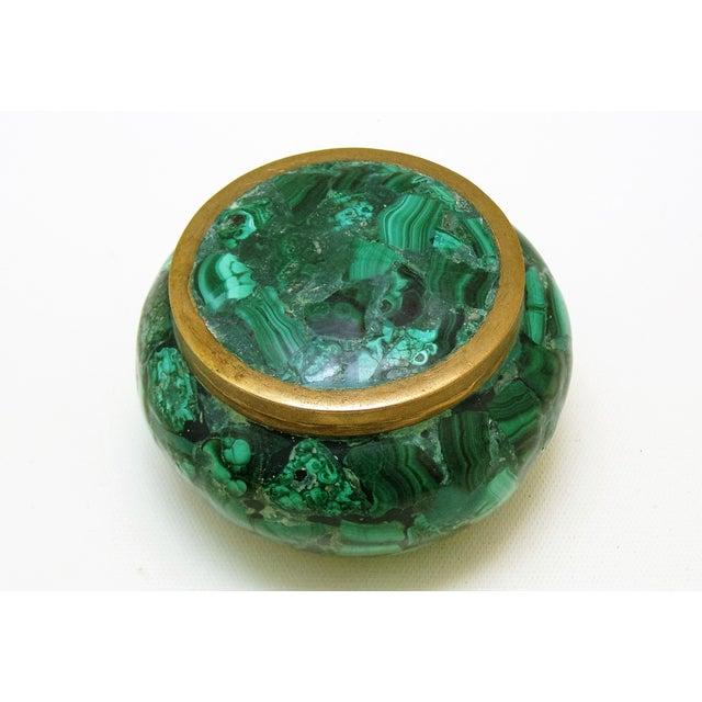 Round Malachite Lidded Box - Image 3 of 8