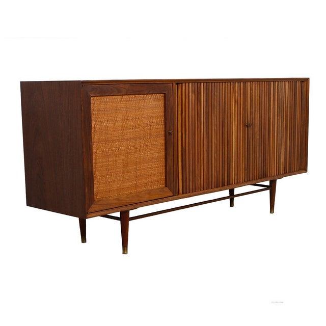 Image of Mid-Century American Modern Walnut Sideboard & Dry Bar