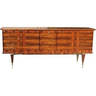 French Art Deco Exotic Macassar Ebony Buffet
