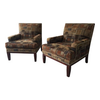 Mid-Century Style Custom Upholstered Chairs - A Pair