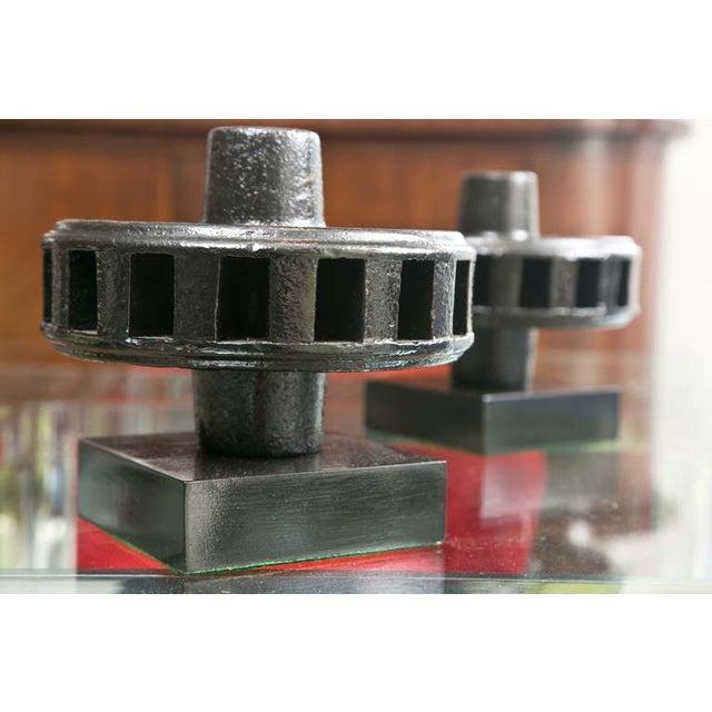 Image of Mid-Century Steel Hub Sculptures